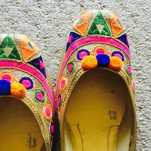 Shoes - New ! Bright Colored Embroidered Shoes
